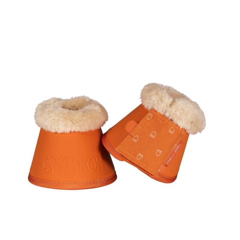 Kalosze z futerkiem Eskadron Faux Fur Platium Vermillion-orange, pomarańczowe 2019