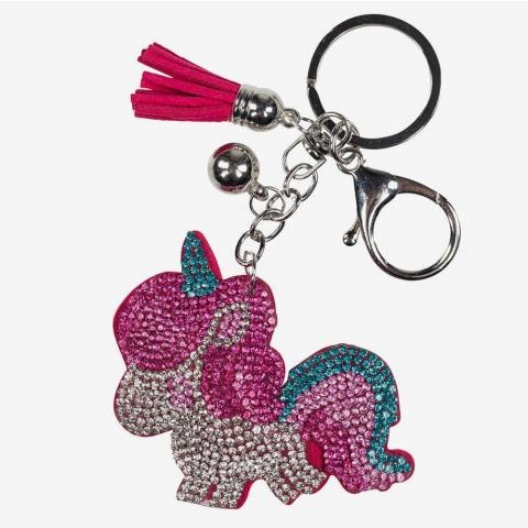 Brelok do kluczy z kucykiem Horze różowo-srebrny