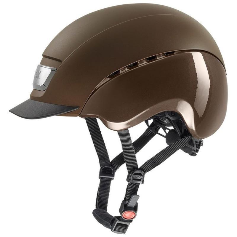 Kask UVEX Elexxion Pro brązowy matowy - brązowy połysk