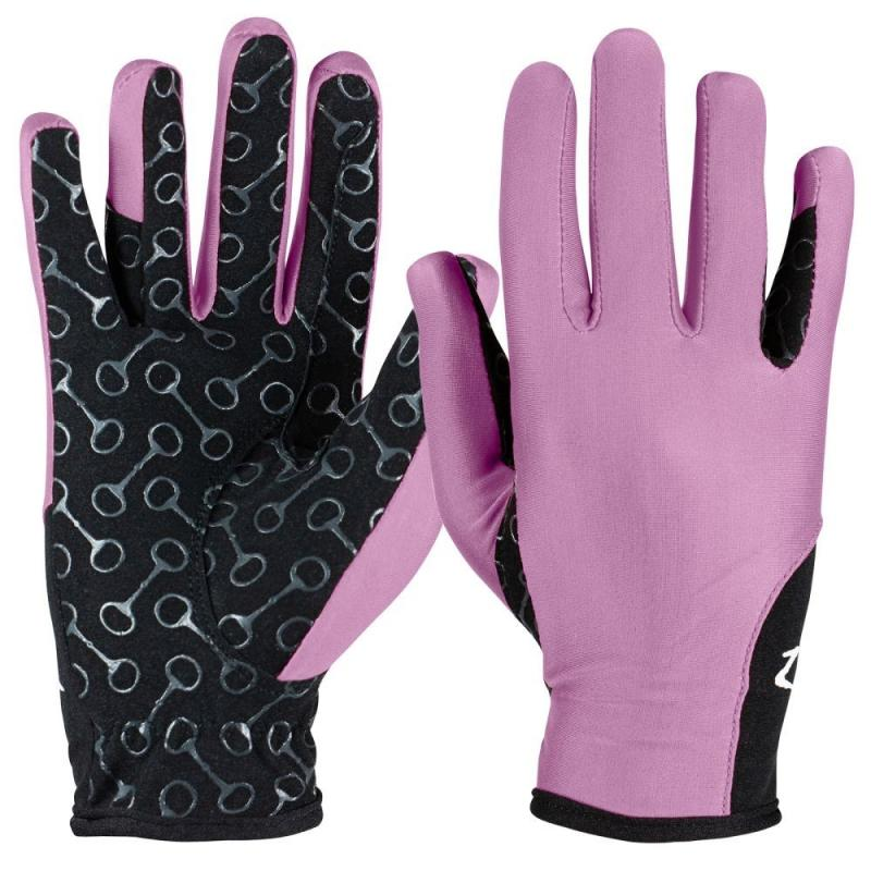 Rękawiczki dziecięce Horze różowo-czarne