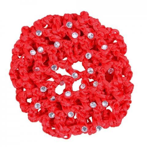 Siatka na włosy z perełkami QHP czerwona