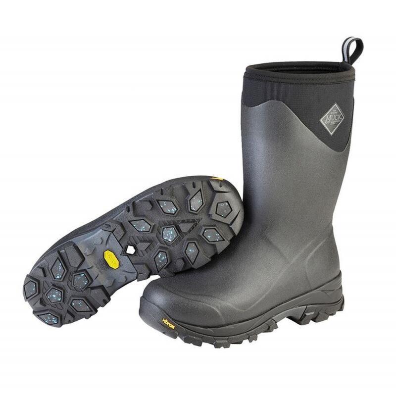 Buty stajenne Muck Boot Company Arctic Ice zimowe, męskie czarno-szare