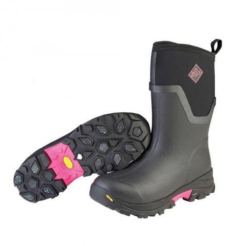 Buty stajenne Muck Boot Company Arctic Ice zimowe, damskie czarno-różowe