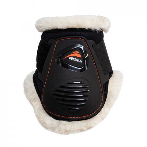Ochraniacze z futerkiem eQuick eLight No Kill Velcro tył czarne