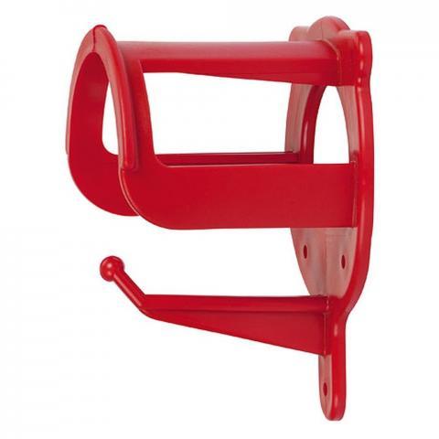 Wieszak na ogłowie Kerbl plastikowy czerwony