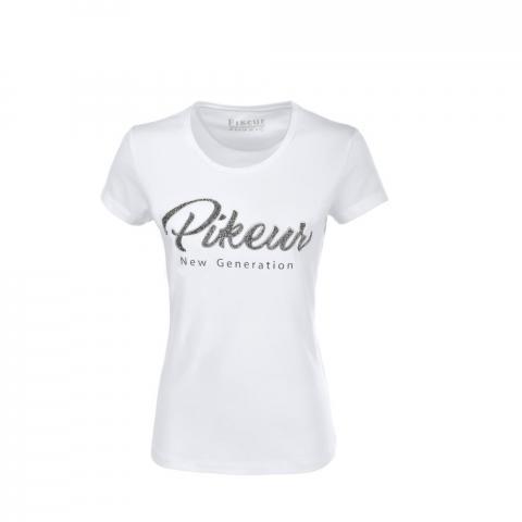 Koszulka Pikeur z ozdobnym napisem Jil white 2020
