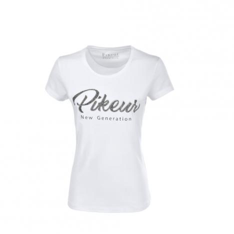 Koszulka z ozdobnym napisem Jil white 2020