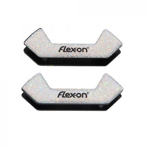 Wkładki magnetyczne do strzemion bezpiecznych Flex-on Safe On brokatowo-srebrne
