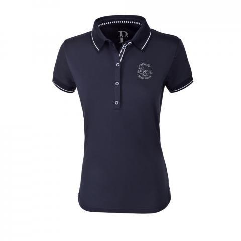 Koszulka polo damska Pikeur Dasha black sky blue 2020