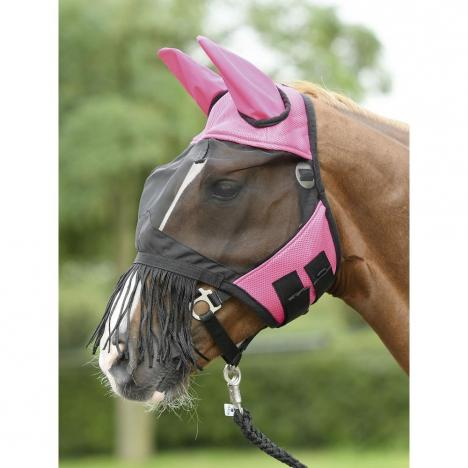 Maska na owady Busse Fly Cover Fransen pink/black