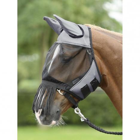 Maska na owady Busse Fly Cover Fransen grey/black