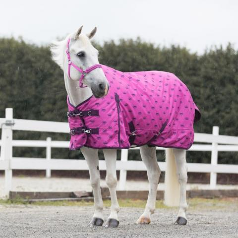 Derka padokowa HORZE Winter Rain Blanket różowa