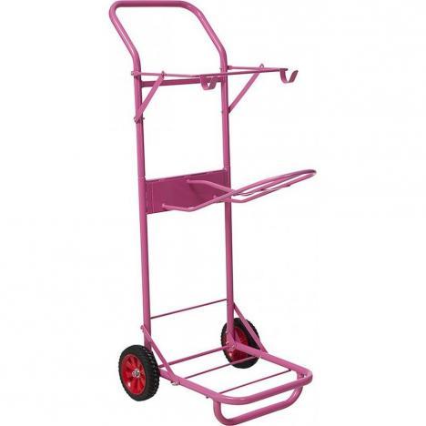 Wózek stajenny Ekkia metalowy różowy