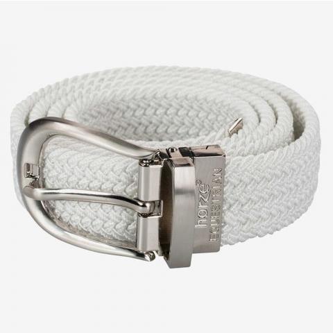 Pasek do spodni elastyczny parciany Horze biały