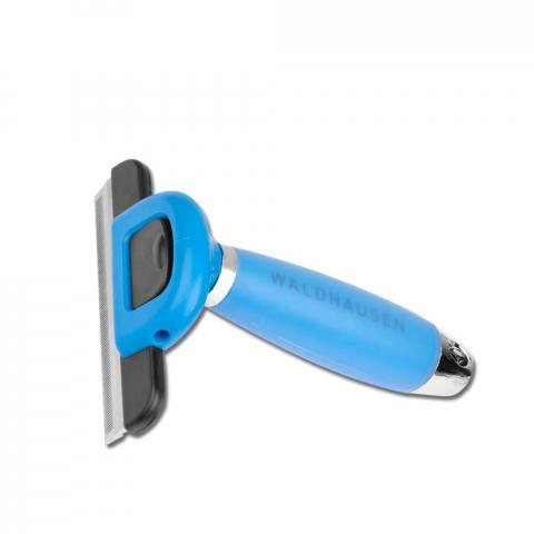 Trymer-furminator Waldhausen z żelową rączką niebieski