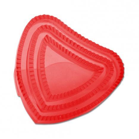 Zgrzebło gumowe Waldhausen serduszko czerwone