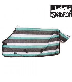 Derka przeciw muchom Eskadron CS Striped teak-mint-white, brąz-mięta-biel SS2012