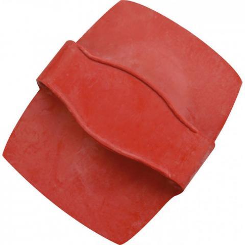 Zgrzebło masażerka Ekkia gumowe czerwone