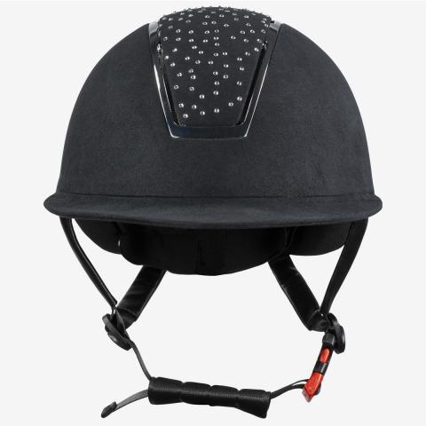 Kask jeździecki Horze Solara VG1 czarny/biały