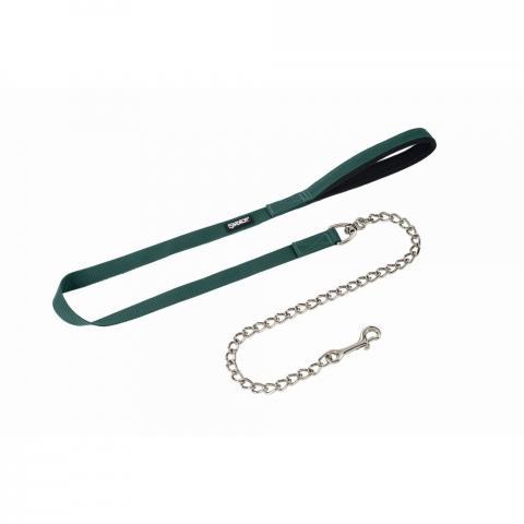 Uwiąz z łańcuszkiem srebrnym Eskadron Basics Racinggreen, zielony