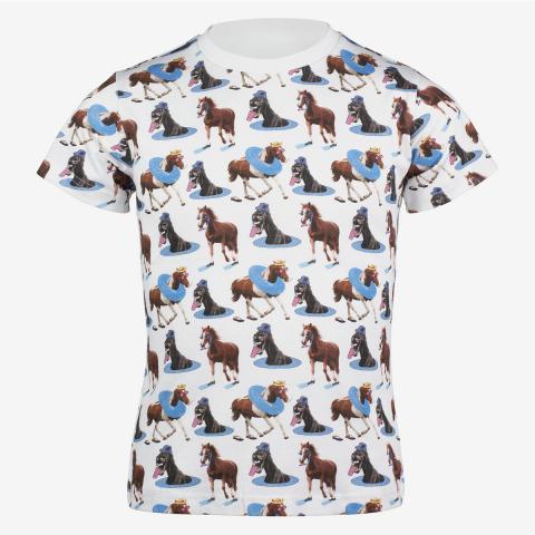 T-Shirt dziecięcy Horze Harper biały