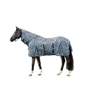 Derka siatkowa z kapturem HKM Zebra błękitna