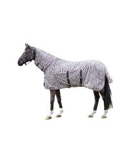 Derka siatkowa z kapturem HKM Zebra jasno różowa