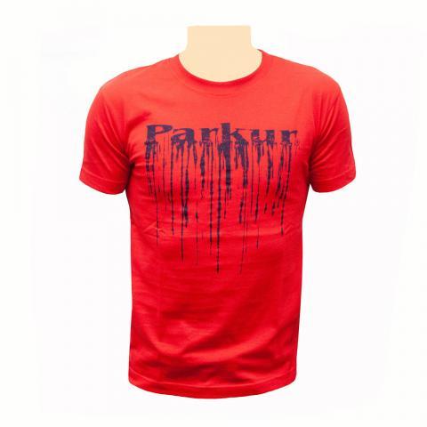 Koszulka dziecięca Parkur Pegaz czerwona