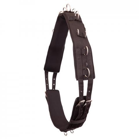 Pas do lonżowania BR nylonowy czarny