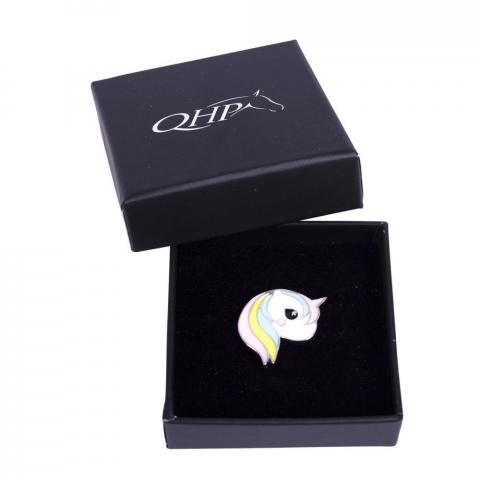 Broszka ozdobna QHP jenorożec kolorowa