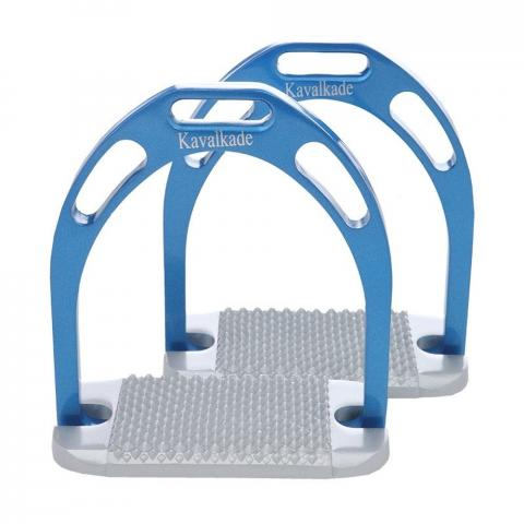 Strzemiona Kavalkade aluminiowe szerokie niebieski
