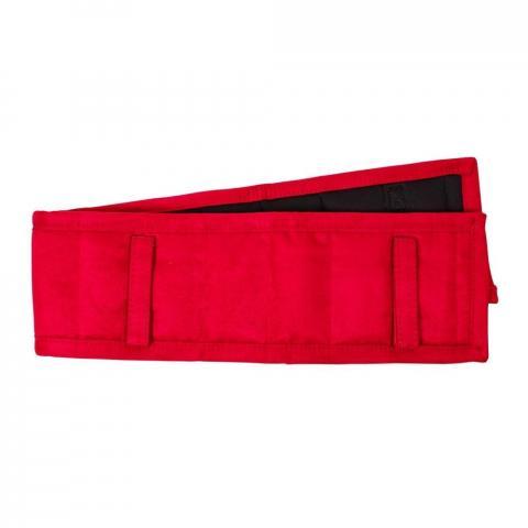 Podkładka pod pas do lonżowania QHP czerwona