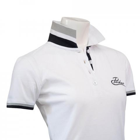 Koszulka polo damska Parkur biała