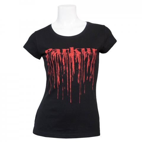 Koszulka damska Parkur Pegaz czarna