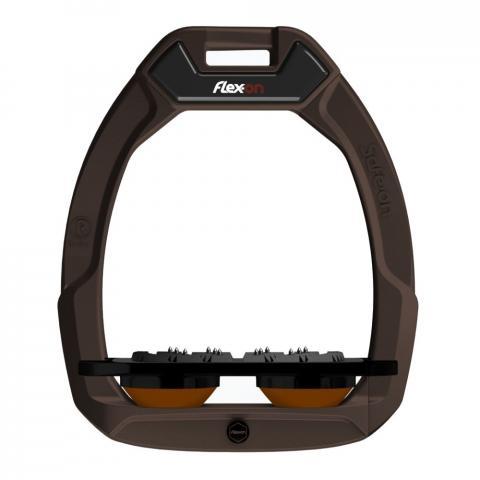 Strzemiona bezpieczne Flex-On z kolcami dorośli ciemnobrązowo-czarno-ciemnobrązowe