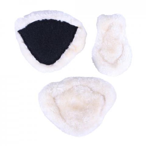 Podkładki futerkowe syntetyczne pod napierśnik QHP 3szt białe