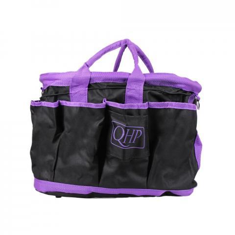 Torba na akcesoria QHP Black-purple, czarno-fioletowa