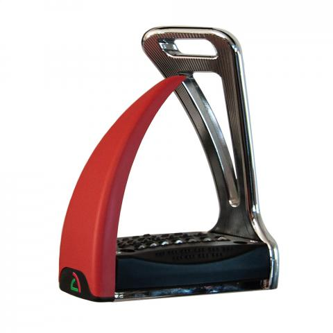 Strzemiona Safe Riding S2 Silver Chrome - Red Chilli, chromowo-czerwone
