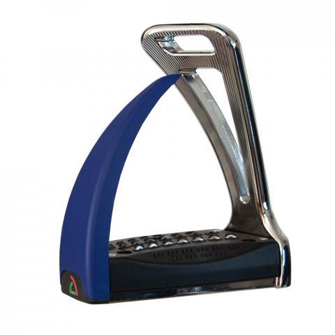 Strzemiona Safe Riding S2 Silver Chrome - Royal Blue, chromowo-granatowe