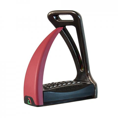 Strzemiona Safe Riding S2 Santorini Black - Bourgogne Red, czarno-bordowe