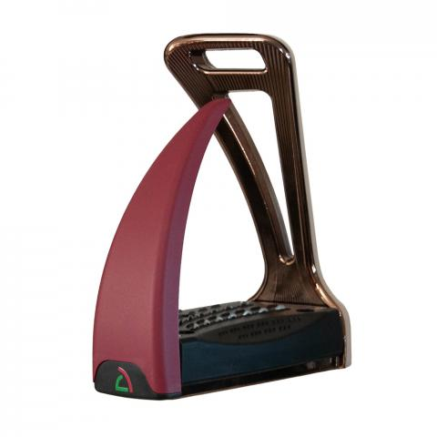 Strzemiona Safe Riding S2 Satin Copper - Bourgogne Red, miedziano-bordowe