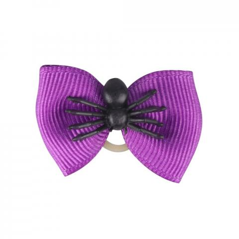 Gumki-kokardki do zaplatania koreczków QHP Halloween Spider