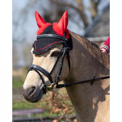 Nauszniki QHP Halloween czarno-czerwone