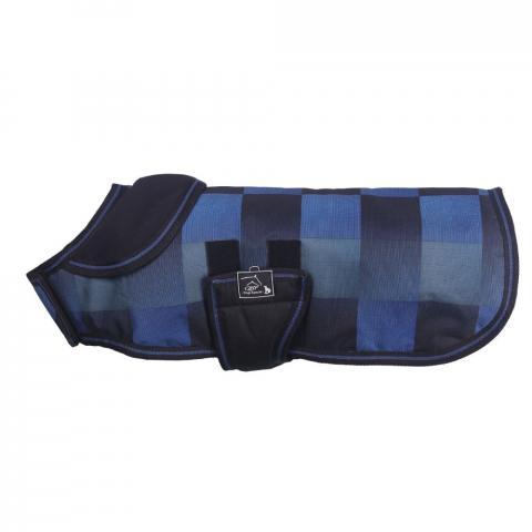 Derka dla psa QHP Turnout granatowo-niebieska