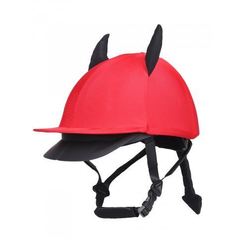 Czapka na kask QHP Halloween Devil czerwona
