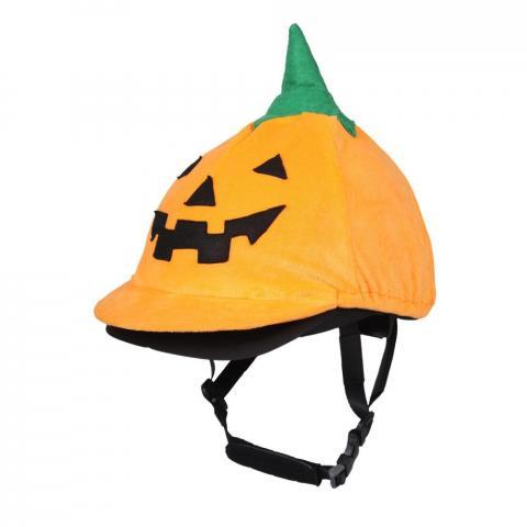 Czapka na kask QHP Halloween Pumpkin pomarańczowa