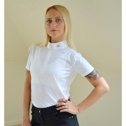 Bluzka konkursowa Equestrian Queen Carla biała