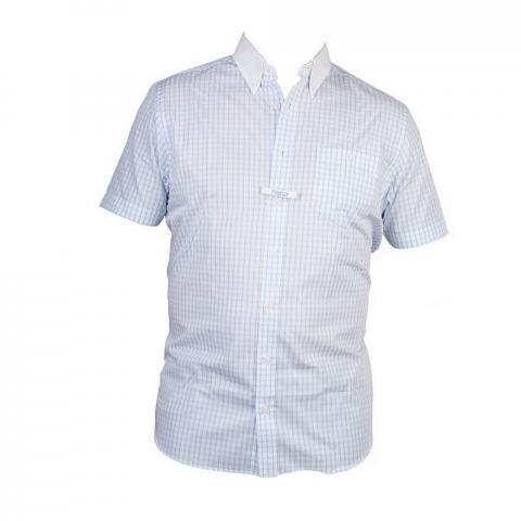 Koszula turniejowa Pikeur kratka błękitna