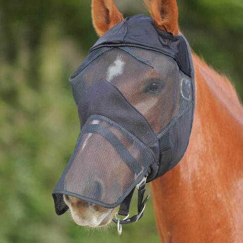 Maska przeciw muchom czarna