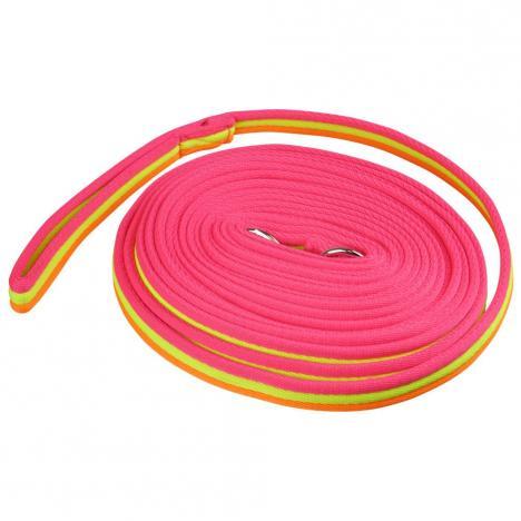 Lonża York Fluo Rainbow pomarańczowo-żółto-różowa